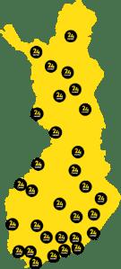 24center Suomen kartta