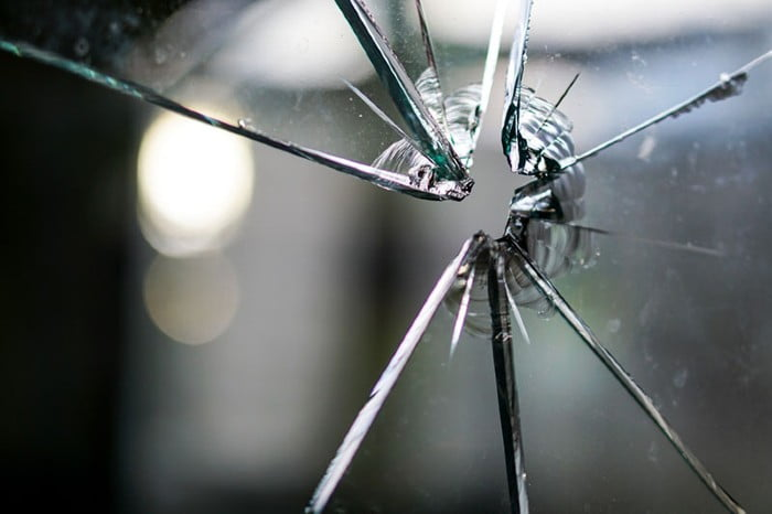 ikkunan lasi rikki